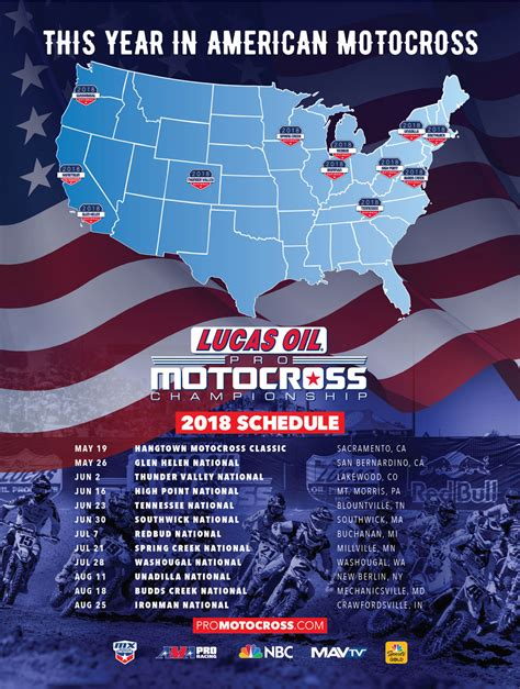ama national motocross schedule 2018 ama lucas oil pro motocross chionship schedule