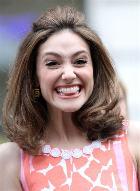 emmy rossum smile emmy rossum at lilly pulitzer for target launch in new