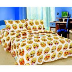 parure de lit smiley emotion pour lit 1 personne 1 taie