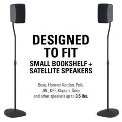 sanus adjustable height speaker stands with universal