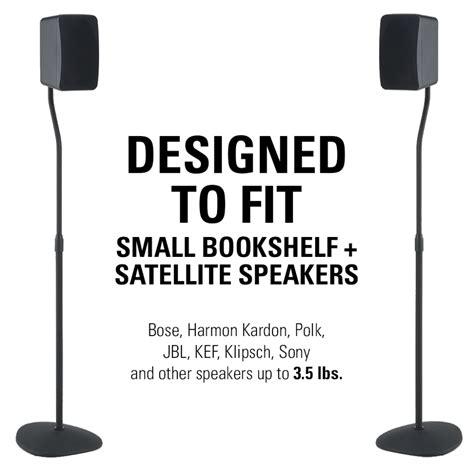 sanus adjustable height speaker stands with universal