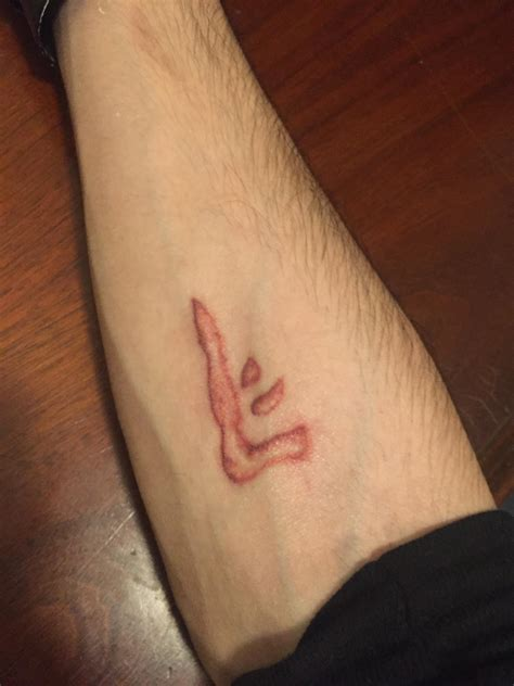 mark of cain tattoo just got my of cain touched up supernatural