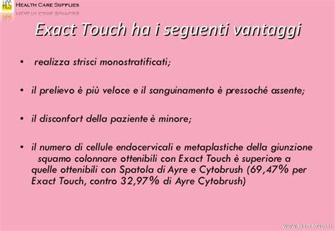 cellule metaplastiche pap test exact touch presentazione