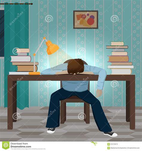 Falls Asleep In Vegas Nightclub by Tired Student Fall Asleep On The Book Stock Vector