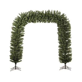 shop northlight lighted freestanding garland archway indoor christmas decoration at lowes com