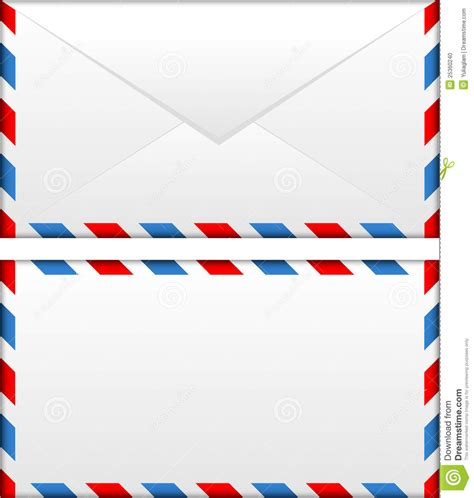 airmail envelope stock vector image   background