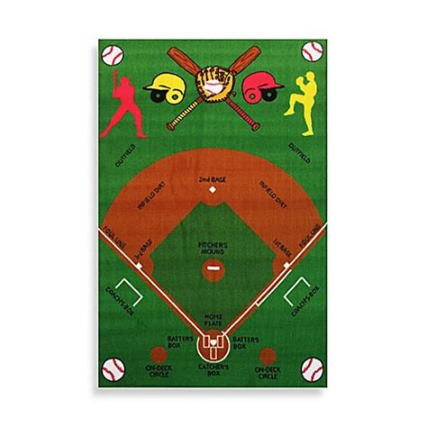 baseball field rugs buy rugs baseball field 3 foot 3 inch x 4 foot 10 inch accent rug from bed bath beyond