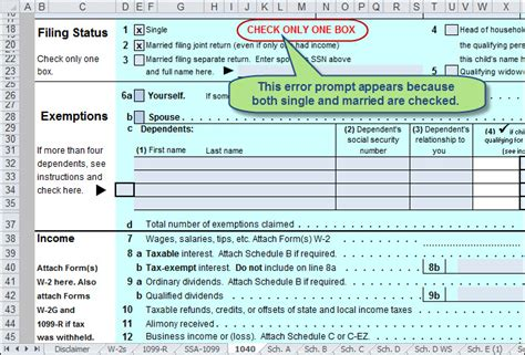 Use Excel To File Your 2014 Form 1040 And Related Schedules Accountingweb 1040 Excel Template