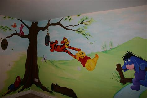 winnie the pooh wall murals mural designs quot the muralist quot winnie the pooh wall mural