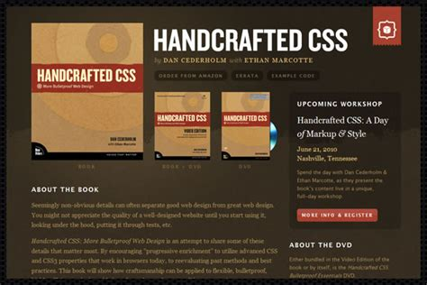 Handcrafted Software - handcrafted css more bulletproof web design ebook