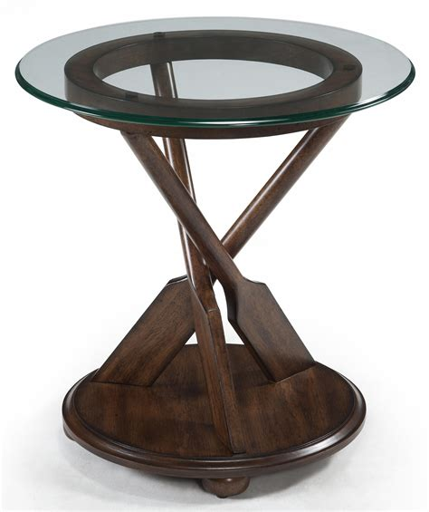 glass top for end table end table with three oar pedestal and tempered glass