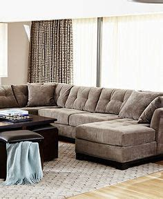 Elliot Fabric Sectional Living Room Furniture Collection by Sectionals On Sectional Living Rooms Leather