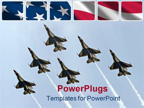 air powerpoint template powerpoint template six air thunderbirds in delta