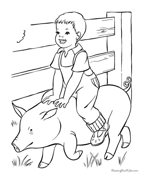 free coloring pages of farmer on farm