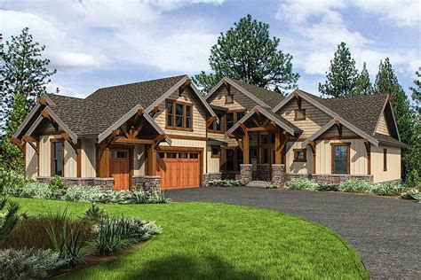 Mountain Craftsman Home Plans by Mountain Craftsman Home Plan With 2 Upstairs Bedrooms