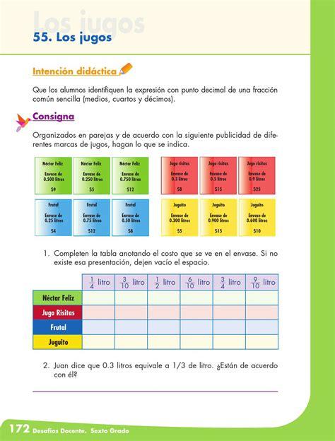respuestas de la pagina 114 del libro de historia 2016 desafios matematicos docente 6 186 sexto grado primaria by