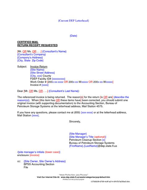 Invoice Return Letter Best Photos Of Return Invoice Template Invoice Tax Return Invoice Cover Letter Template And