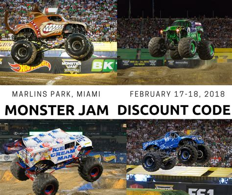truck jam discount code jam at marlins park february 17 18 discount code