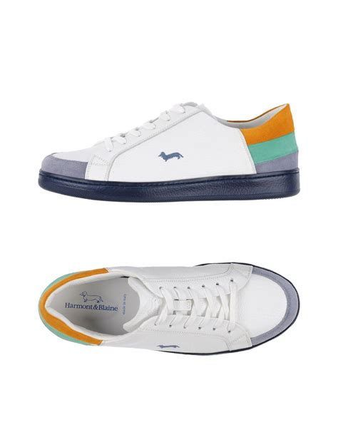 harmont blaine low tops sneakers in white lyst