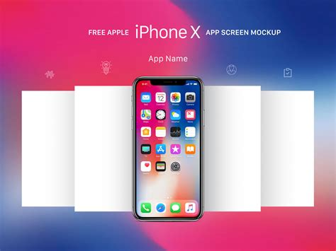 Free Apple Iphone X App Screen Mockup Psd Good Mockups App Mockup Template