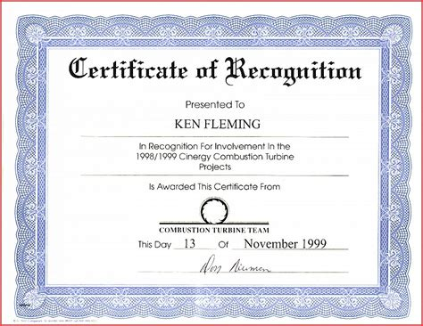 employee recognition certificate template certificate template employee appreciation certificate