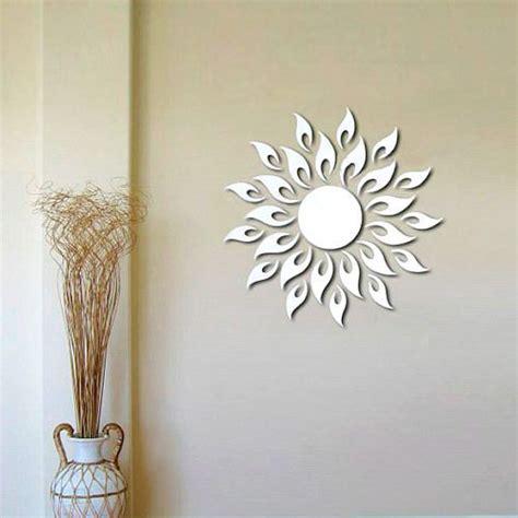 decorar espejos con stickers vinilos decorativos de espejo en forma de sol tecniac