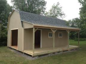 Shed Designs With Porch by Barns W Porch The Shed Guy