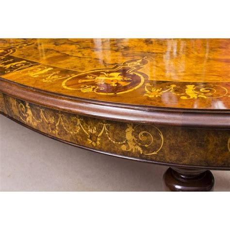 Bespoke Handmade - bespoke handmade burr walnut marquetry dining table and 8