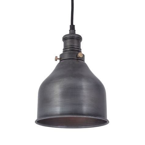 Industrial Style Pendant Lighting Vintage Industrial Style Small Cone Pendant Light Pewter 7 Inch