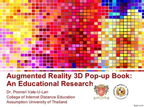 augmented reality research paper augmented reality 3d pop up book a educational research