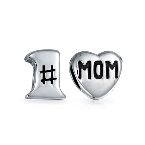 Number One Heart Shape Mom Home Mother Love Family Set of