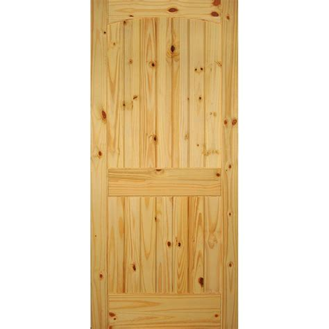 Clear Pine Interior Doors Builder S Choice 36 In X 80 In 6 Panel Solid Unfinished Clear Pine Single Prehung