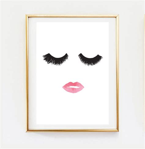 makeup wall art printable makeup print wall decor home decor wall art minimalist