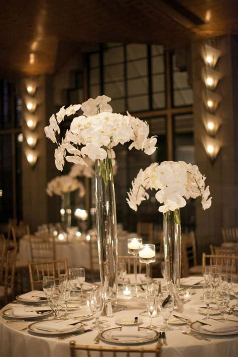 white orchid centerpieces centerpieces the gorgeous white orchid centerpieces 2029716 weddbook
