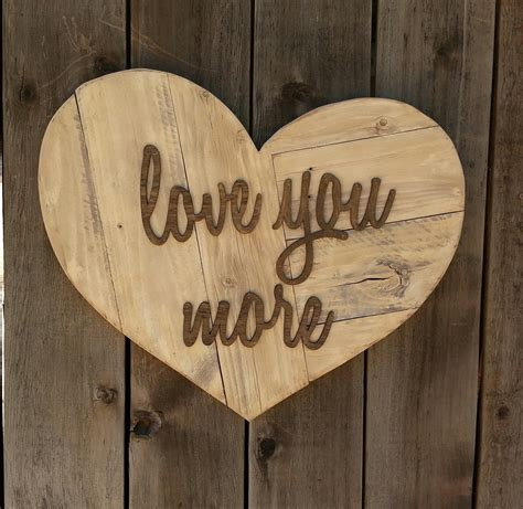 love you more heart reclaimed wood sign twinkle twinkle