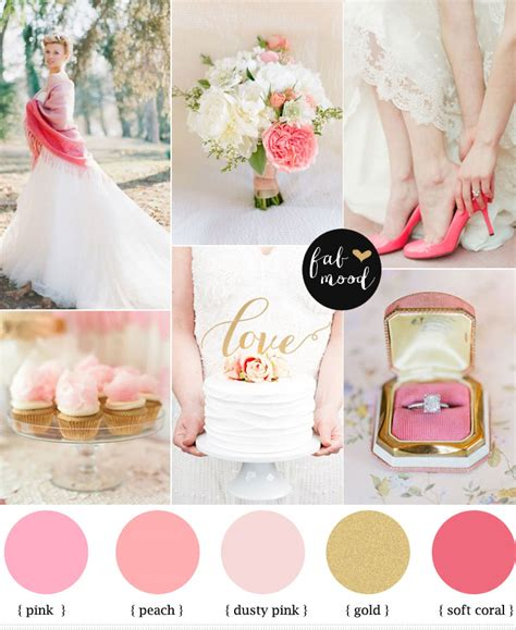 wedding colour themes pink pink and gold wedding colors palette raspberry wedding