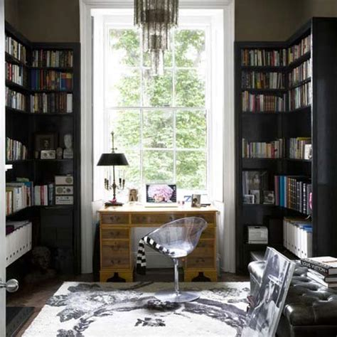 black and white home office decorating ideas veckans hemmabibliotek bokad
