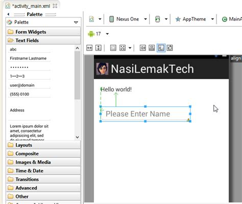 app res layout activity main xml tutorial building your first android app nasi lemak tech