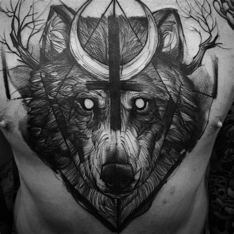 animal jaw tattoo 53 jaw dropping chest tattoos for men tattoomagz