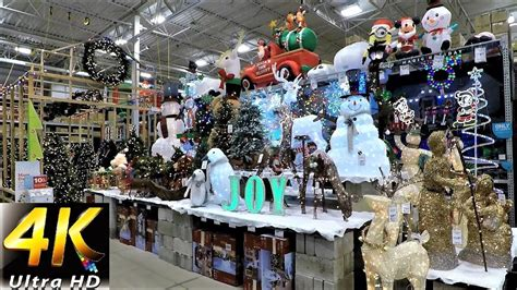 lowes home store christmas decorations 4k section at lowe s shopping trees decorations ornaments lowes
