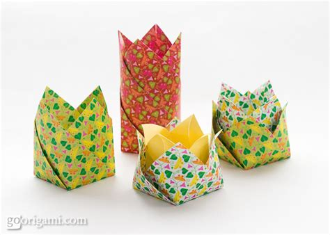Origami Circle Box - origami boxes and dishes gallery go origami