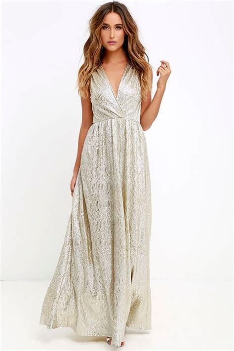 Maxi Dress Tha 4643 gold dress maxi dress metallic dress silver dress