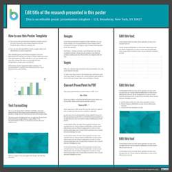poster session template presentation poster templates free powerpoint templates