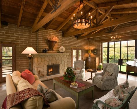 Living Room L Post Post And Beam Construction Kitchen Rustic With Dining