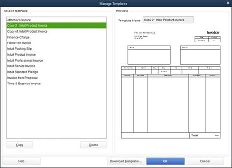 Template For Quickbooks Invoice Template Quickbooks Hardhost Info