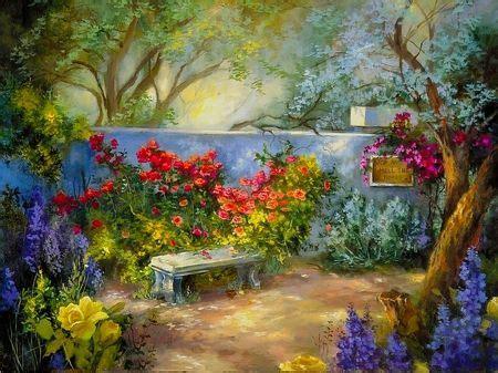 secret garden garden beautiful flowers lovely flower