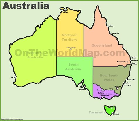 australia in map australia maps map of australia