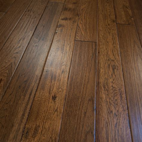 Prefinished Solid Hardwood Flooring Hickory Scraped Prefinished Solid Wood Flooring 5 Quot X3 4 Quot Jackson Rustic Hardwood