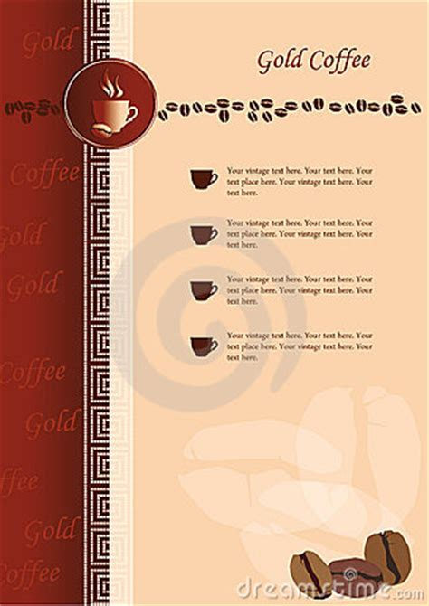 design coffee shop menu layout design of menu for coffee shop and restaurant stock images
