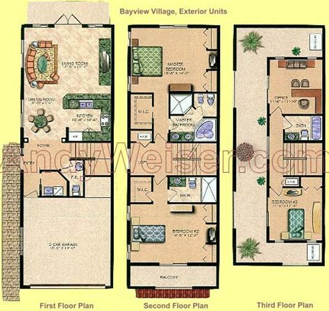 10 Coral Ridge Floor Plan by Bayview Townhomes In Coral Ridge Andy Weiser